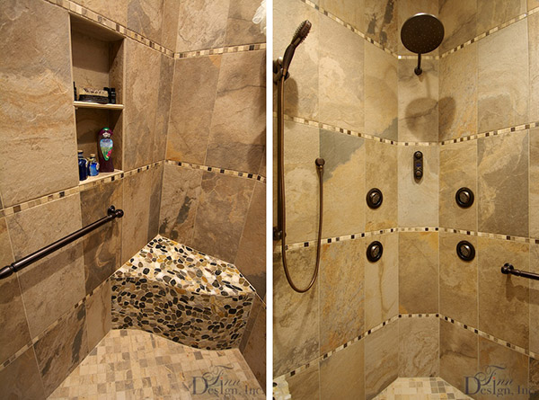 Italian-inspired master bath by Finn Design