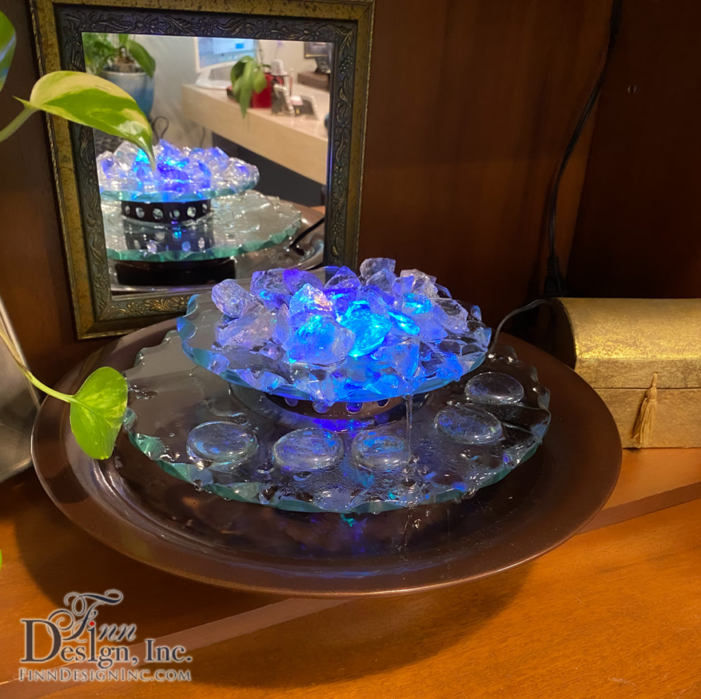A fountain personalizes your office and gives it a relaxing atmosphere.